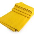 manta artesanal mexicana de lana BLANCA